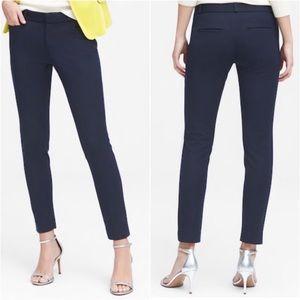 Banana Republic Sloan Navy Skinny Stretch Trouser
